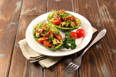 avocado salad with mixed vegetables