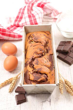 homemade gourmet chocolate swirl cake