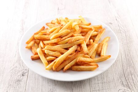 plate of french fries- fast food
