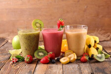 food ingredient for healthy fruit smoothie or fruit juice
