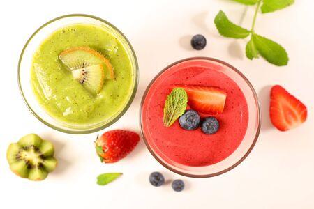 smoothie- fruit juice isolated on white background