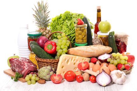 fruit, vegetable and grocery assortment