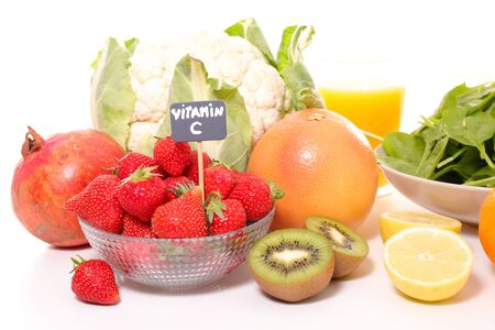 selection of food high in vitamin C