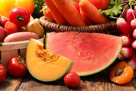 melon, pastèque, fruits et légumes