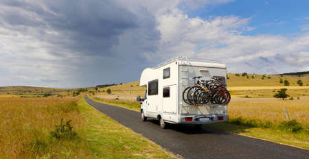 family vacation travel-holiday trip in motorhome