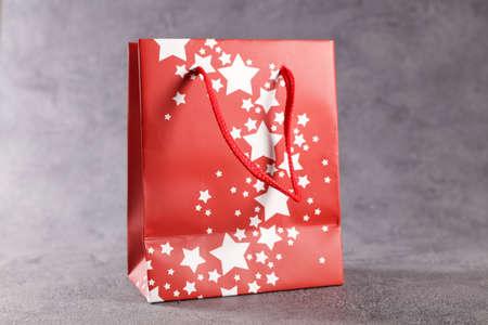 red christmas shopping bag
