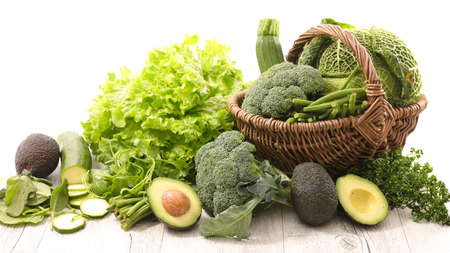 assorted of green vegetable composition
