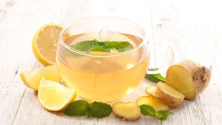 lemon and ginger warm tea