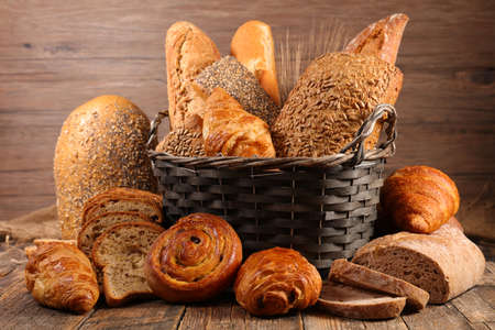 assorted of bread and croissant