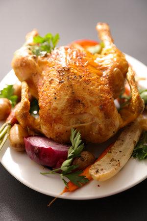 baked chicken and vegetable 版權商用圖片