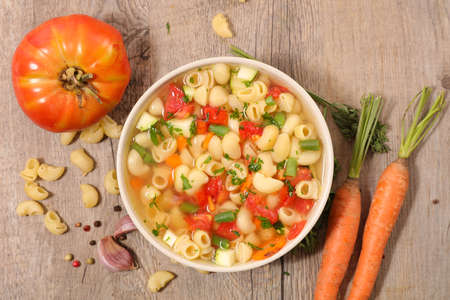 soup with pasta and vegetable