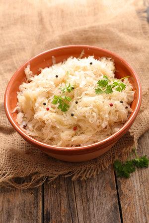 sauerkraut, white cabbage in bowl