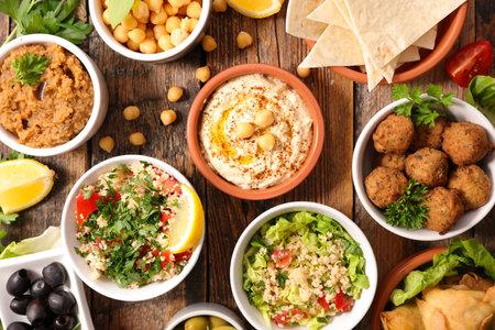 assorted of indian food- top view 版權商用圖片