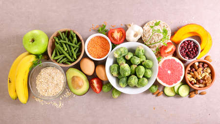 health food selection- fruit and vegetable