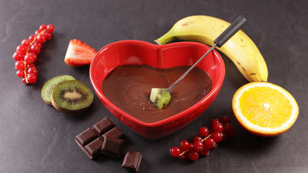 fruit and chocolate dipping sauce