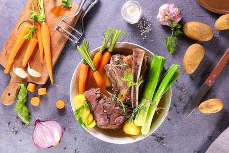 pot au feu- beef, broth and vegetable
