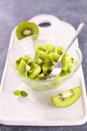 health food- fresh kiwi salad
