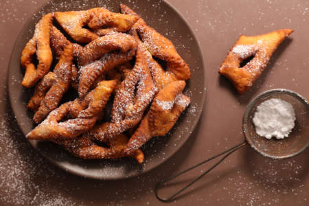 traditional bugne- fried angel wings
