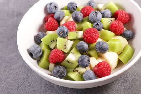 fresh fruit salad in bowl