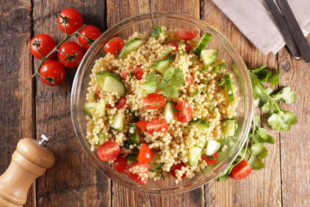 pasta salad with tomato and cucumber