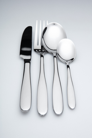 cutlery, white background