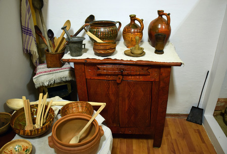Old Rustic Kitchen Interior