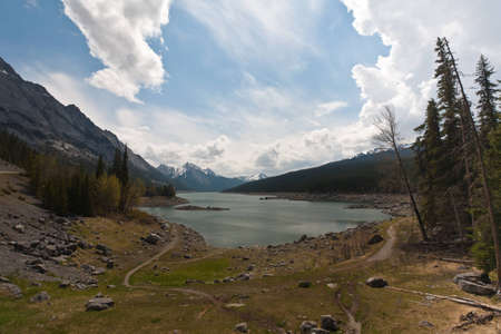 watershed: Medicine Lake is located within Jasper National Park, Alberta, Canada  It is located southeast of the townsite of Jasper  Medicine Lake is is a relatively shallow lake and is part of the Maligne Valley watershed which is mainly glacial fed  Editorial