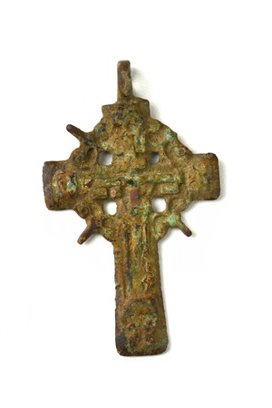 pectoral: pectoral cross ancient archaeological find closeup, isolated