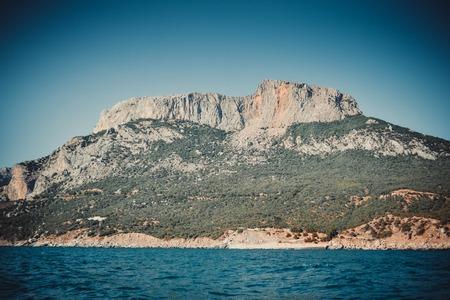 scarp: big wide mountain rock near the sea Crimea