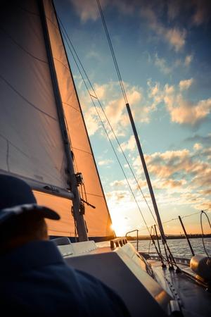 diffuse: yacht at sunset and diffuse back man