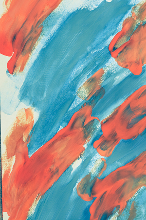 Abstract background blue and orange color on paper