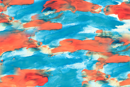 tinge: Abstract background blue and orange color on paper