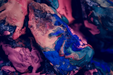 colorific: the paint on the surface of the stone, close up, filter Stock Photo