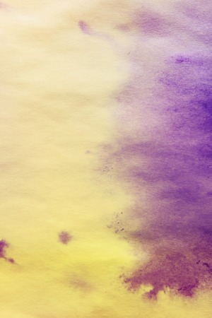 tinge: purple spreads ink on white wrinkled paper with a yellow tinge gradient