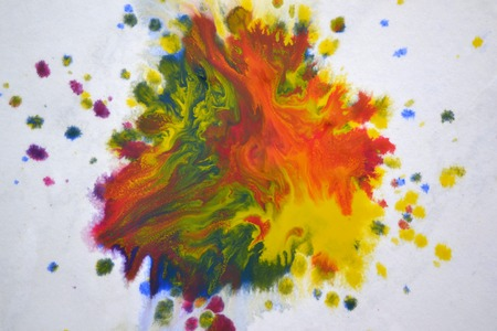 isolated large patches spots blots of splash of mixed colors on a white background