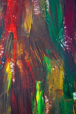 Brush strokes multicolored oil paint macro. Motley Abstract creative background Stock Photo