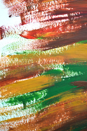Brush strokes multicolored oil paint macro. Motley Abstract creative background. Isolated on white background. Stock Photo