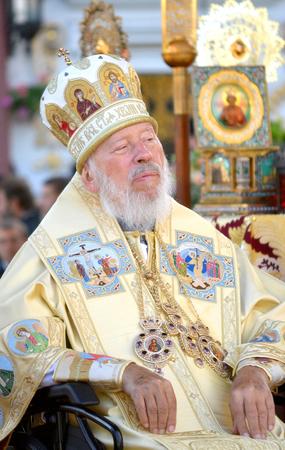Kiev, Ukraine, celebration liturgy in honor of the baptism of Rus in Kiev Pechersk Lavra - 27 July 2013 -: Portrait of Metropolitan Volodymyr Editorial
