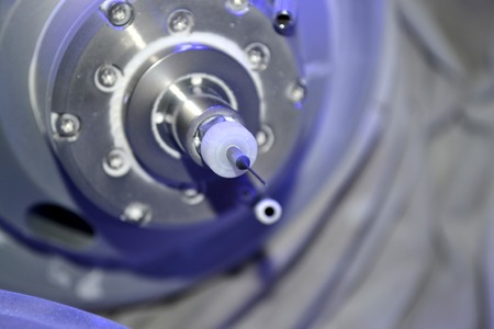 drill of medical milling machine close-up. Modern technology cad cam