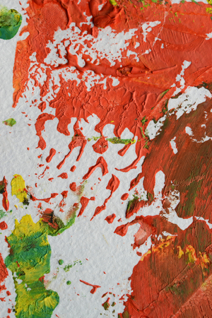 paint paper red green creative art therapy