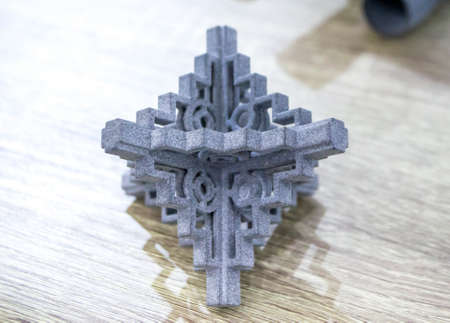 Object printed on a powder 3D printer from polyamide powder