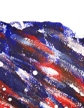 Many colorful bright colored paint lines drawn on white canvas close-up Standard-Bild - 166037092