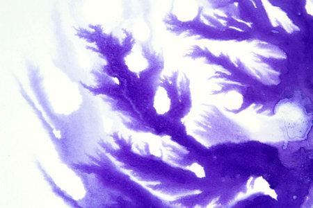 Splashes, chaotic ink spots on a white background Standard-Bild
