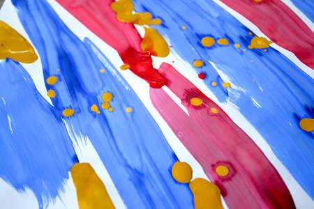 Abstract background brush strips blue, pink, yellow Standard-Bild