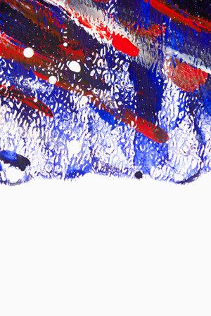 Multicolored brush strokes on white paper Standard-Bild - 166290450