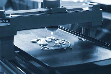 3d printer that printing a liquid dough