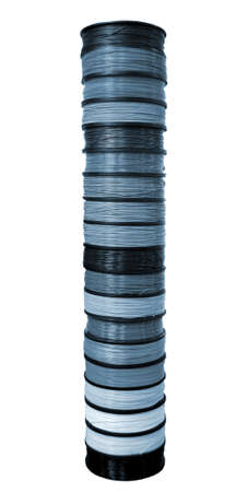Filament wire for 3D printer close-up. Reels of filament wire for 3D printer. Standard-Bild