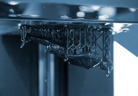 Stereolithography DPL 3d printer create small detail and liquid drips