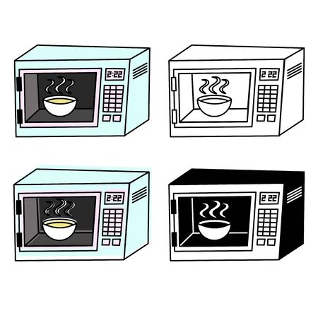 microwave in cartoon. icon vector
