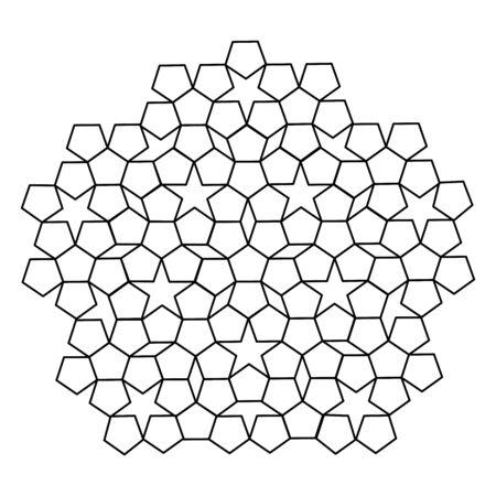 black and white pentagon pentagon pattern